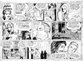 DRAKE, STAN - Juliet Jones 11/10 1968, Eve and Skeets in bed, genius artist wants press   Comic Art
