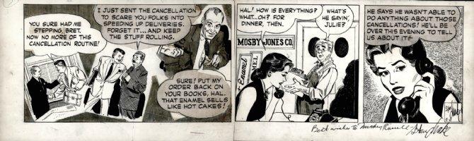 DRAKE, STAN - Heart of Juliet Jones Daily 6/2 1954 Julie & Pops on the job Comic Art
