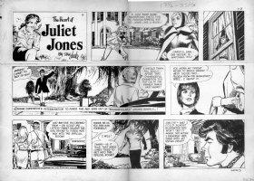 DRAKE, STAN - Juliet Jones 1/3 1970, Eve as model on estate Comic Art
