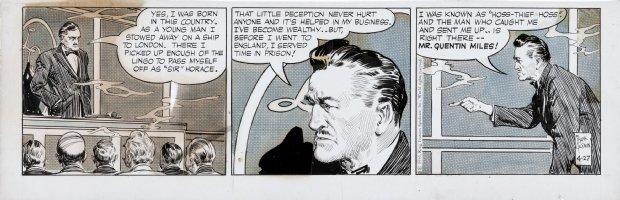 GODWIN, FRANK - Rusty Riley daily 4-27 1956, Horse thief in Order of Horsemen Comic Art