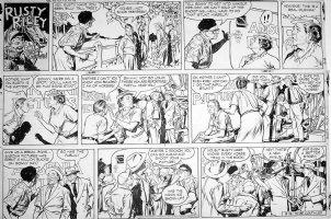 GODWIN, FRANK: Rusty Riley Sunday 8-18 1957 Comic Art