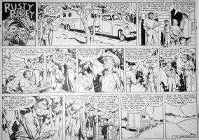 GODWIN, FRANK: Rusty Riley Sunday 1-6 1956 Comic Art