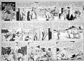 GODWIN, FRANK: Rusty Riley Sunday 9-16 1951 Comic Art
