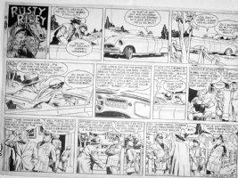 GODWIN, FRANK: Rusty Riley Sunday 4-24 1955 Comic Art