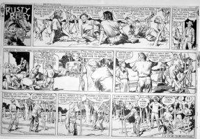GODWIN, FRANK: Rusty Riley Sunday 6-16 1957 Comic Art