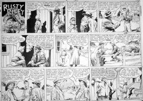 GODWIN, FRANK: Rusty Riley Sunday 6-7 1953 Comic Art