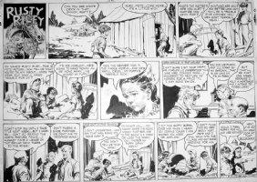 GODWIN, FRANK: Rusty Riley Sunday 8-17 1952 Comic Art