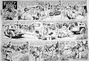 GODWIN, FRANK: Rusty Riley Sunday 9-16 1956 Comic Art