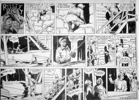 GODWIN, FRANK: Rusty Riley Sunday 9-25 1955 Comic Art