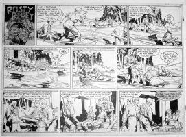 GODWIN, FRANK: Rusty Riley Sunday 11-13 1955 Comic Art