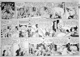 GODWIN, FRANK: Rusty Riley Sunday 4-23 1950 Comic Art