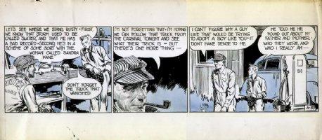 GODWIN, FRANK - Rusty Riley daily tryout A-30, ink & blue wash, 1947? Comic Art