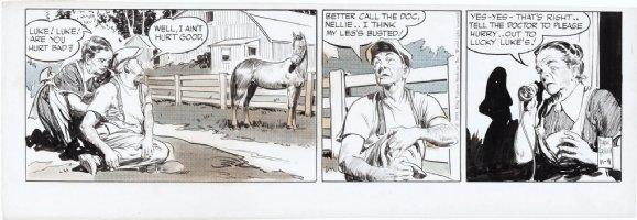 GODWIN, FRANK - Rusty Riley daily 11/09 1955, full horse image Comic Art