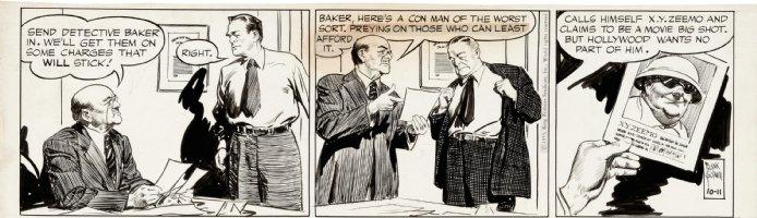 GODWIN, FRANK - Rusty Riley daily 10/12 1955  movie crook - XY Zeemo Comic Art