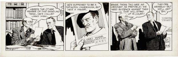 GODWIN, FRANK - Rusty Riley daily 10/12 1955  crook Lanky Hank Comic Art