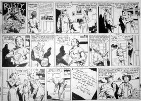GODWIN, FRANK: Rusty Riley Sunday 8-19 1956 Comic Art
