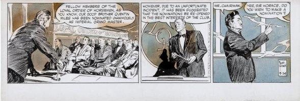 GODWIN, FRANK - Rusty Riley daily 4-24 1956, loyal order of Horsemen Comic Art