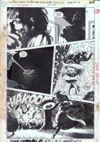 HUGHES, ADAM - Justice League America #38 pg 16, Despero strikes Comic Art