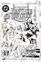 HUGHES, ADAM - Justice League America #31 cover, JLA Gals featured - 1ST & BEST Adam Hughes JLA cover Comic Art