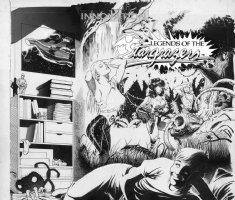 HUGHES, ADAM - Legends of Stargrazers #4, wraparound cover - early Hughes good-girl art! Comic Art
