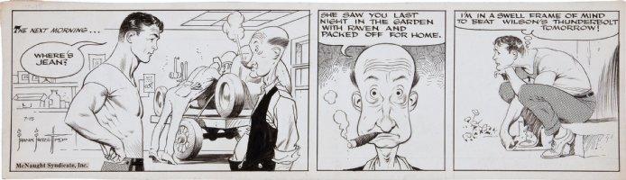 FRAZETTA, FRANK - Johnny Comet daily 7/15 1952, where's Jean? Comic Art