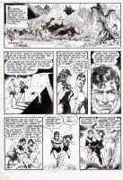 FRAZETTA, FRANK - Thun'da #1 pg 2 - 1st Thun'da, Pha, gal & Dino rampage ! Comic Art
