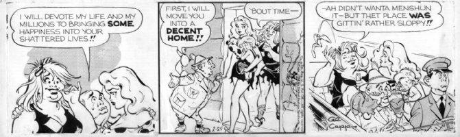 FRAZETTA, FRANK / AL CAPP - Lil Abner 1958 daily, Good-Girl art - Daisey May Comic Art