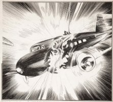McWILLIAMS, AL - Flying Aces Magazine 1940, Airplane pre-WW2 pulp, plane struck, illustration Comic Art