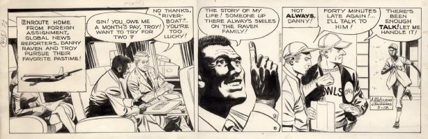McWILLIAMS, AL - Dateline Danger daily, 5/9 1969 Comic Art