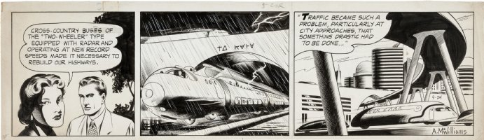 McWILLIAMS, AL - Twin Earths daily 9-24 1952, 3rd month of strip! Comic Art