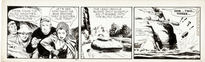 McWILLIAMS, AL - Twin Earths daily 10/31 1962, alien tank Comic Art