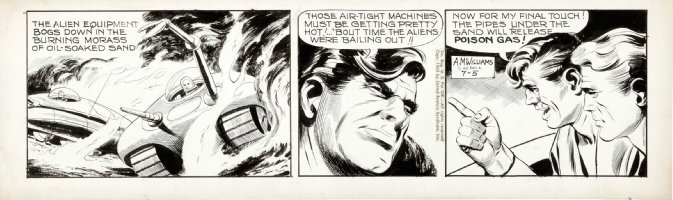 McWILLIAMS, AL - Twin Earths daily 7/5 1962, alien tanks Comic Art