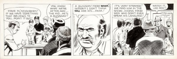 McWILLIAMS, AL - Dateline Danger daily, 1/9 1970, Danny confronts an Hispanic neighborhood Comic Art