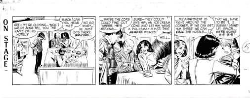STARR, LEONARD - On Stage daily 5/6 1966, Mary & pal take home passed out guy Comic Art