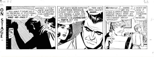 STARR, LEONARD - On Stage daily 8/5 1965, Mary consoles Maximus Comic Art