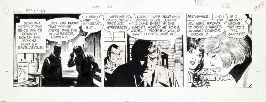 STARR, LEONARD - On Stage daily, he said, she said case - 2/18 1974 Comic Art