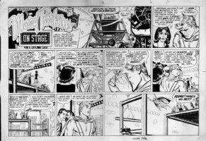 STARR, LEONARD - On Stage Sunday 10/2 1966, Superhero falls Comic Art