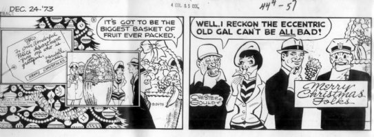 GOULD, CHESTER- Dick Tracy daily 12/24 1973, X-Mas daily Comic Art