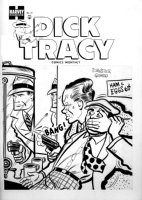 GOULD, CHESTER Studio - Dick Tracy #72 cover, pre-comic code art, Killer' Mirror shot, 1954  Comic Art
