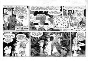 WOOD, WALLY - Sally Forth Sunday #53 B, Tarzan satire, used as Sally Forth Mag #4 cover Comic Art
