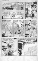WOOD, WALLY / GIUNTA layouts - Thunder Agents #4 large-size page 9, Mentor, gold bars Comic Art