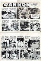 WOOD, WALLY - Cannon Sunday #73 A & B Sunday, tough guy origin, bearded Cannon & Elena strike out date  Comic Art