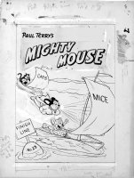 Bartsch, Art - Paul Terry's Mighty Mouse #23 cover,  1951 Comic Art
