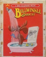 Bullwinkle and Rocky, A big coloring book, by Golden 1960 Comic Art
