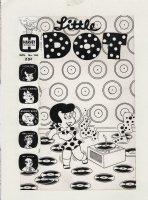 KREMER, WARREN - Little Dot #146 cover, Dot digs a disc O  beat! Comic Art