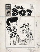 KREMER, WARREN - Little Dot #46 cover, an appropriate treat bone for a dalmatian! Comic Art