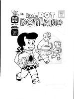 KREMER, WARREN - Little Dot Dotland #21 cover, rare example with Dot, Richie Rich and Little Lotta Comic Art