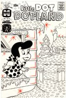 KREMER, WARREN - Little Dot Dotland #44 cover, winter wonderland Comic Art