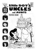KREMER, WARREN ? - Little Dot Uncles & Aunts #4 cover, Dot birthday cake 1962 Comic Art