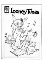 HEIMDAHL, RALPH - Looney Tunes #242Dell cover, Bugs Bunny as fakir 1961 Comic Art